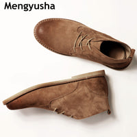 fashion desert boots popular high top leather shoes