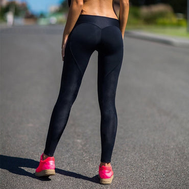 Fitness Leggings Solid Color Black Workout Push Up Leggings Women Pants