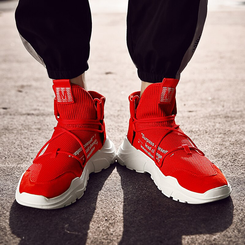 High Top Sock Shoes  Men Fashion