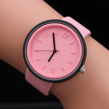 Hot Sell Newest relogio feminino Fashion Ladies Watch Number Men Watches