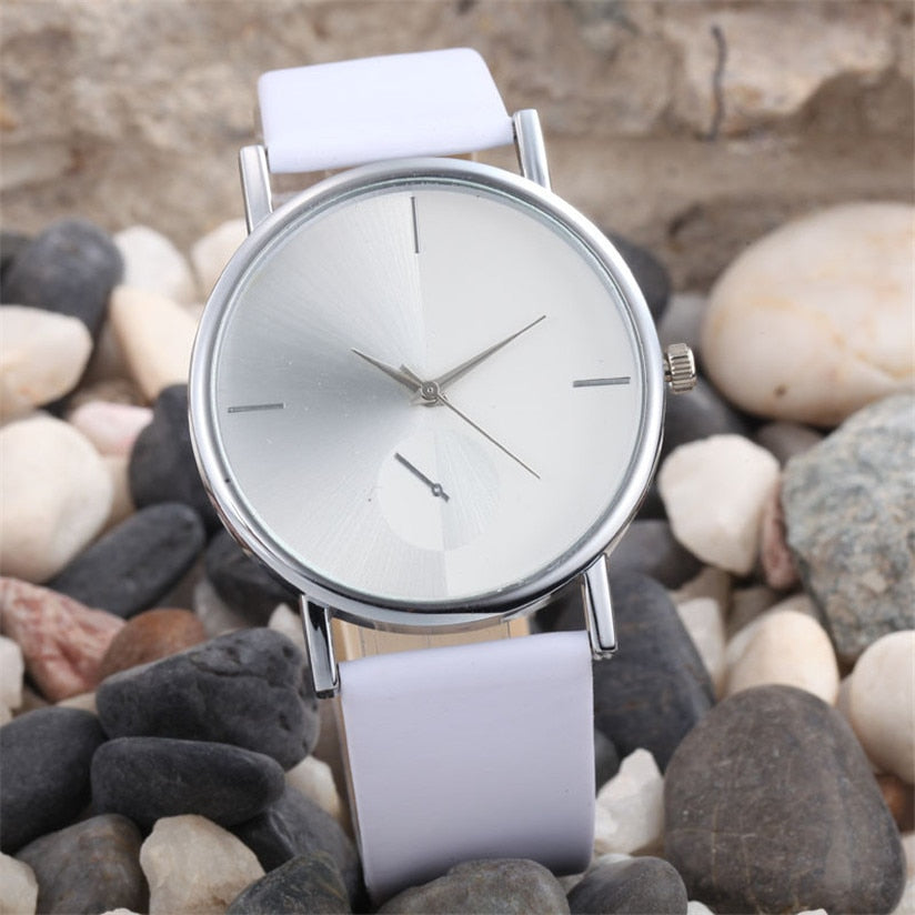 Fantastic White watch women Fashion Wearing Design Dial Leather