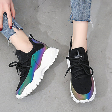 Limited Edition Reverse Light Discoloration Women Sneakers
