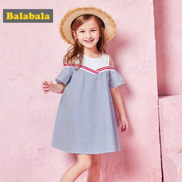 Cute Girls summer floral Fashion Cotton Dress