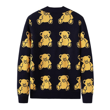 New men Luxury Embroidered Bears Knit Casual Sweaters