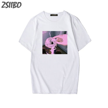 NEW Arrival Sad Anime Vaporwave Print t shirt