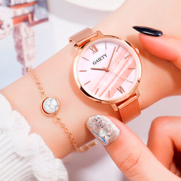 Luxury Rose Gold Women Bracelet Dress Watch