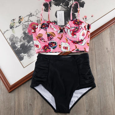 High Waist Bikini Set Biquini Plus Size Swimwear