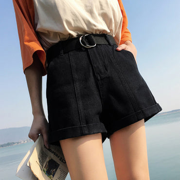 4 Colors high Waist Denim Shorts jeans for Women