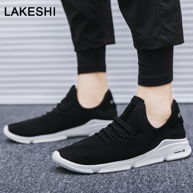 Men Casual Shoes Mesh White Sneakers