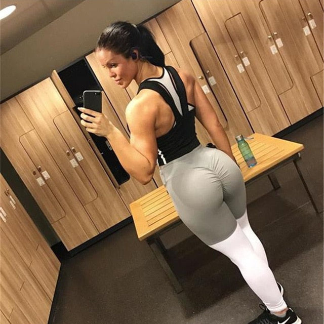 Women Leggings High Quality High Waist Push Up Elastic Casual Workout Fitness Leggings