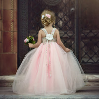 Cute Girls Floral Long Tutu Princess Dress