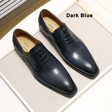 New Genuine Leather Men's Dress Shoes Handmade Office Business