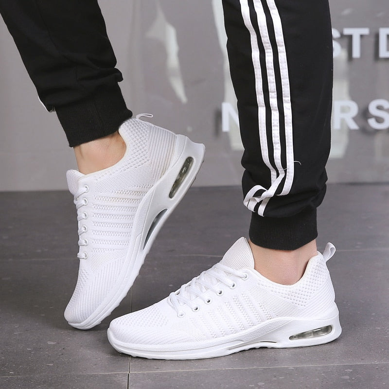 Men Casual Shoes Mesh Breathable Weaving Male Flats Shoes
