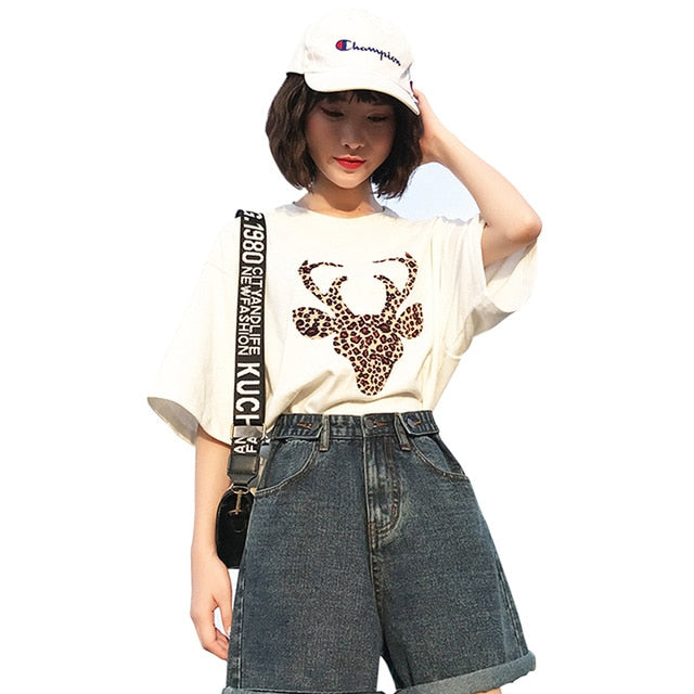 Fashion  High Waist Simple New Arrival Loose Casual Female Shorts