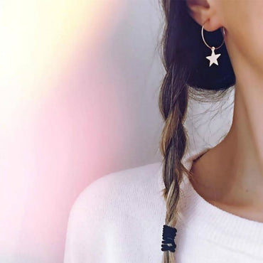Cute Simple Pentagram Star Dangle Earrings