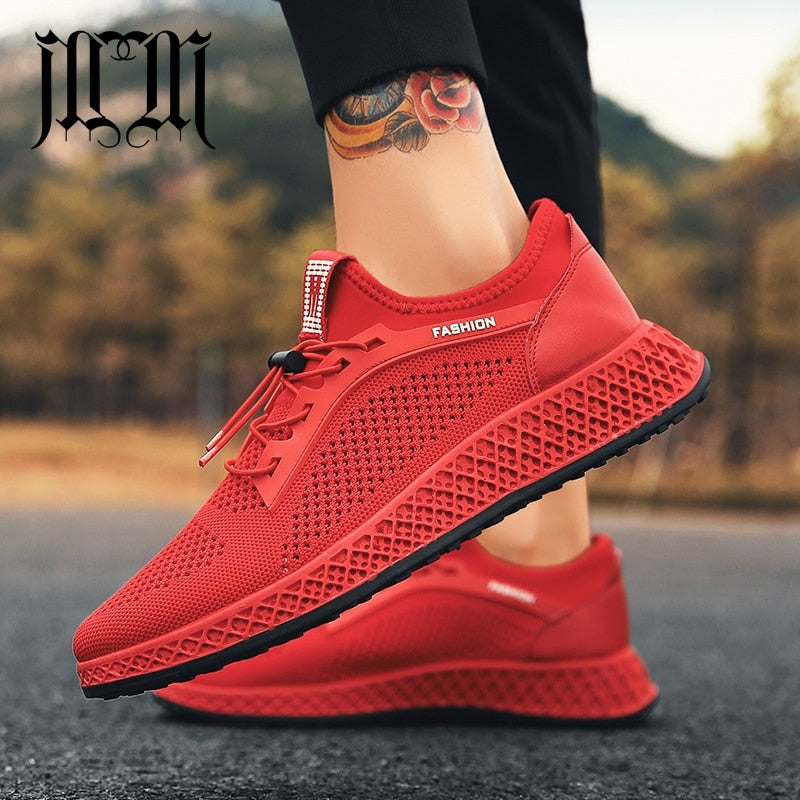 Red Black High Quality New Mesh Shoes