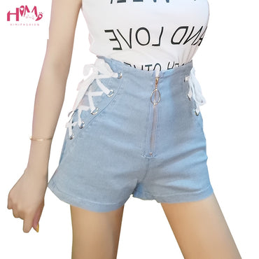 Summer High Waist Denim Shorts Blue Black Sexy