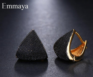 Brand Unique Fashion Two Tone Originality Geometric Jewelry Earrings For Woman