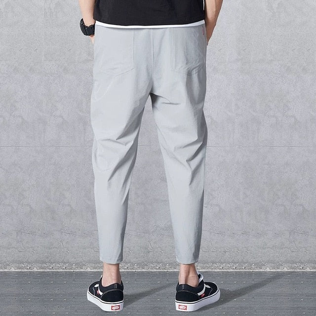New men's casual pants high elastic stretch fabric slim