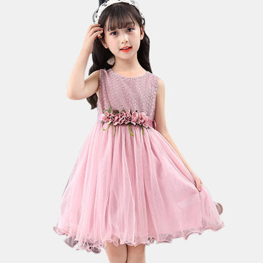 Cute Sleeveless Princess Summer Girl Dress
