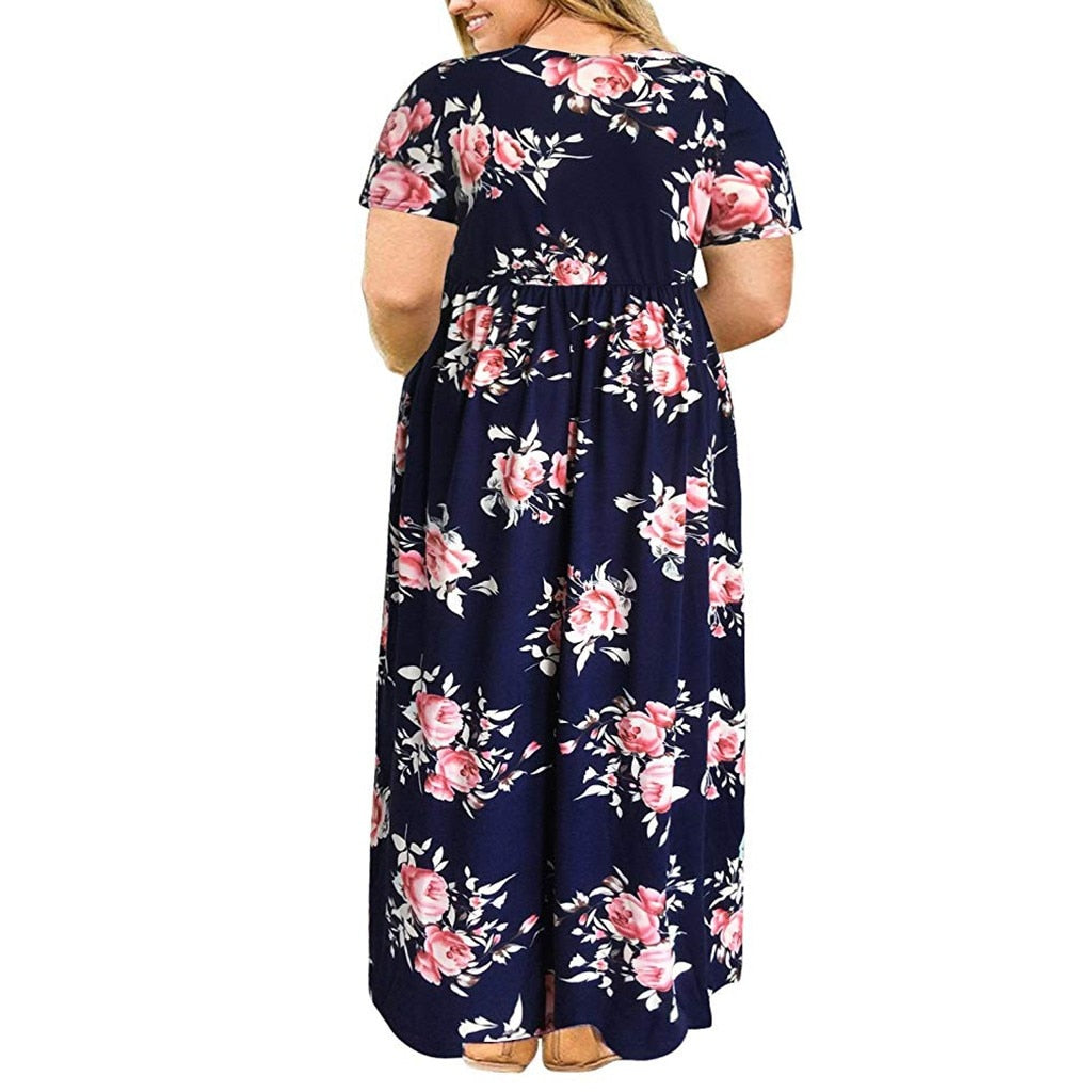 New Fashion Large Size Loose Casual Dress
