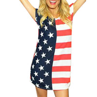 Summer Best-selling Dress Women Fashion Independence Day Print American Flag