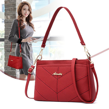 Women fashion small crossbody bags leather messenger bag