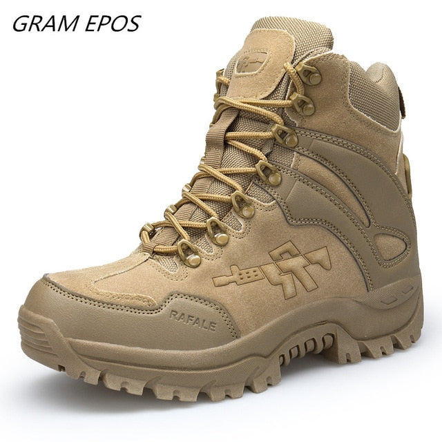 Military Tactical Boots Men's Breathable Desert Combat Ankle Boots