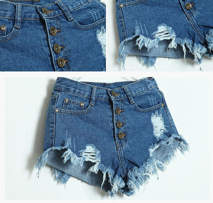 Sexy Shorts Women High Waist Denim