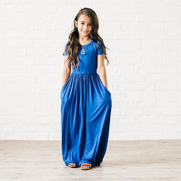 New Fashion Summer Soft Modal Long Maxi Girl Dress