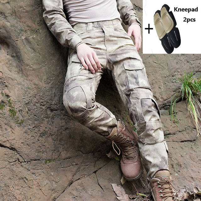 Tactical Pants Cargo Pants Men Military Knee Pad SWAT Army Airsoft Camouflage