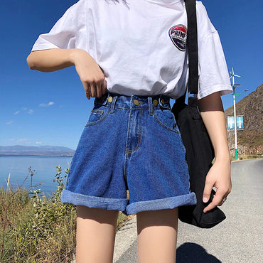 Beach Style womens shorts denim high waist sexy