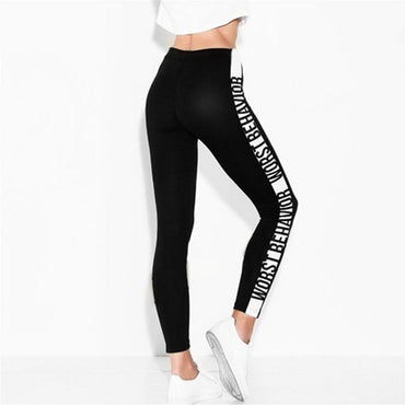 New Leggings Side letter WORST BEHAVIOR Women Slim Fitness