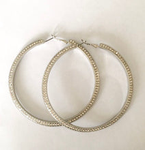 Load image into Gallery viewer, glam hoops | silver