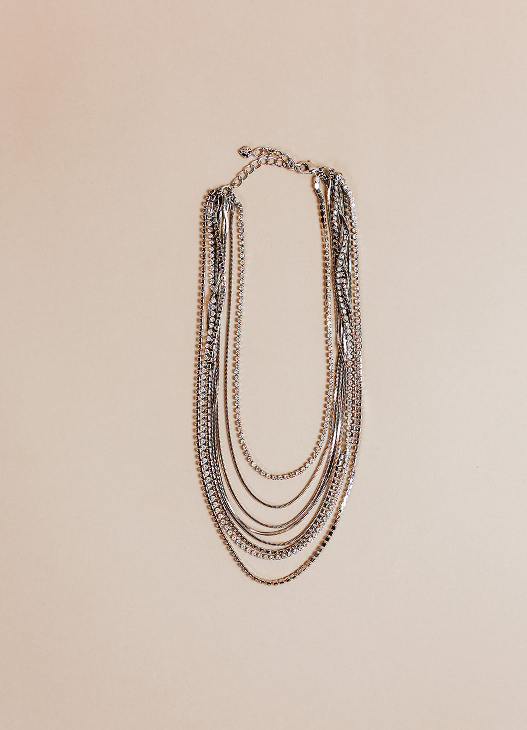 gemma layered necklace | silver