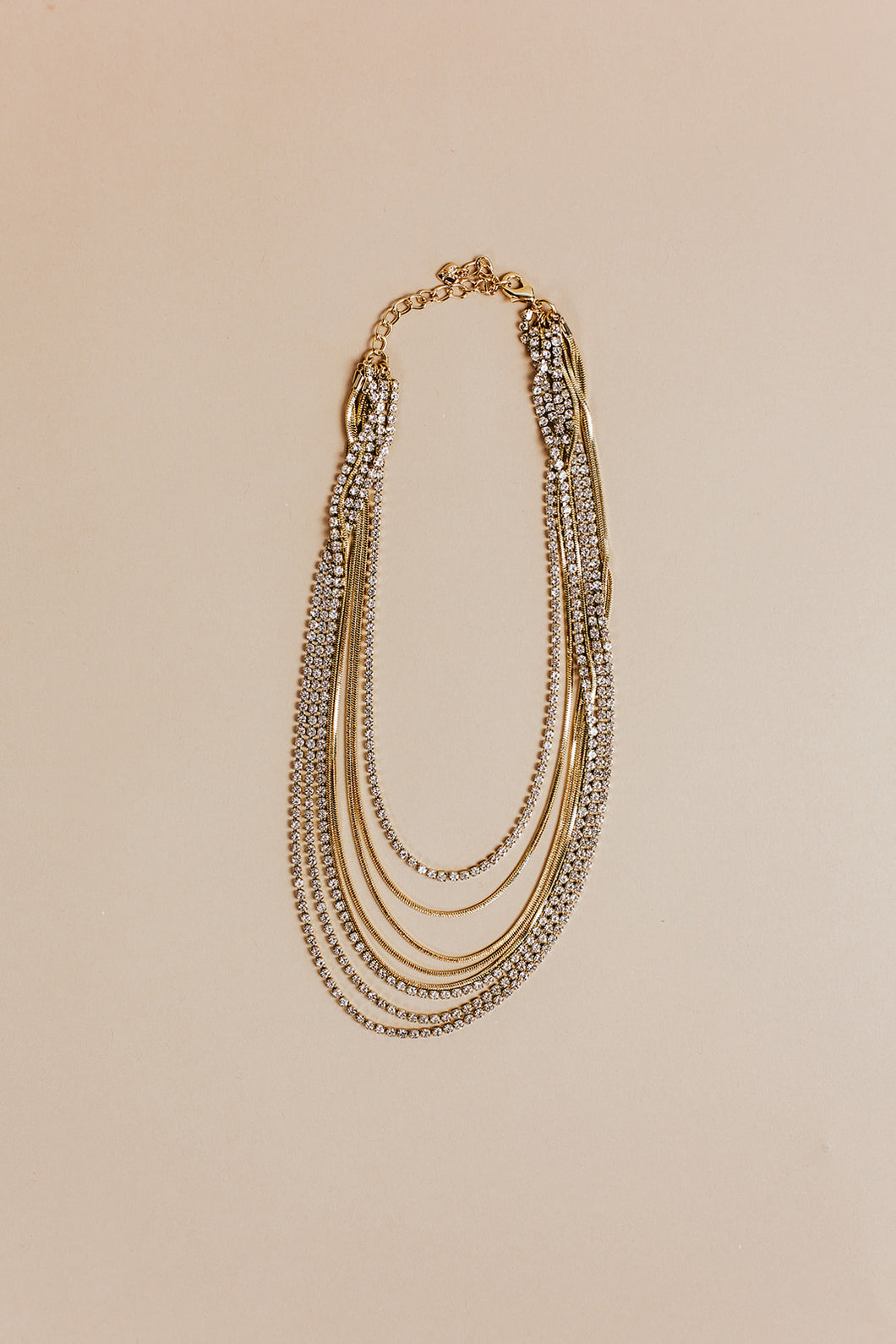 gemma layered necklace | gold