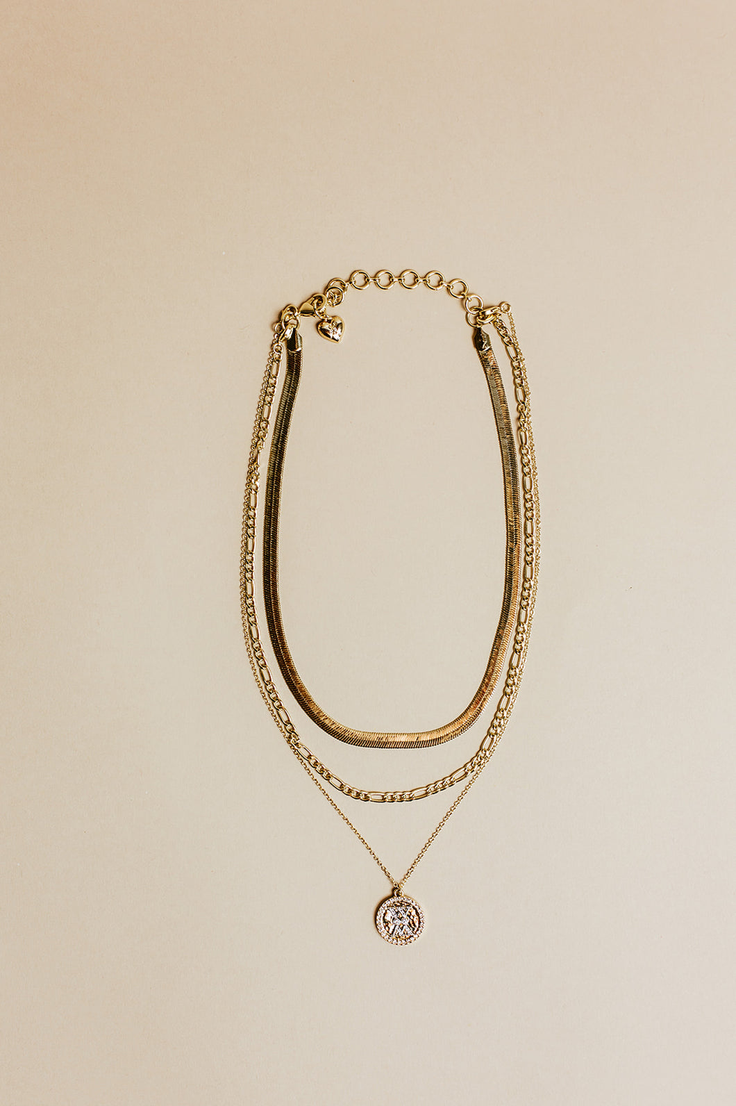 trio necklace | gold