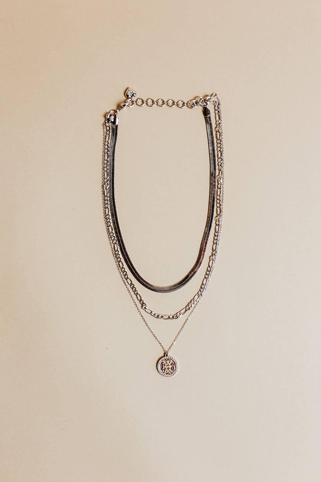 trio necklace | silver