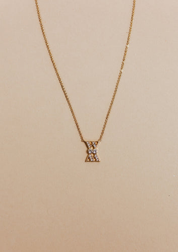 WM necklace | gold