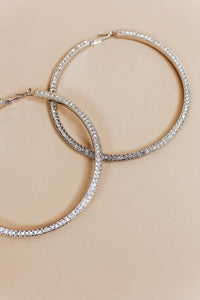 glam hoops | silver