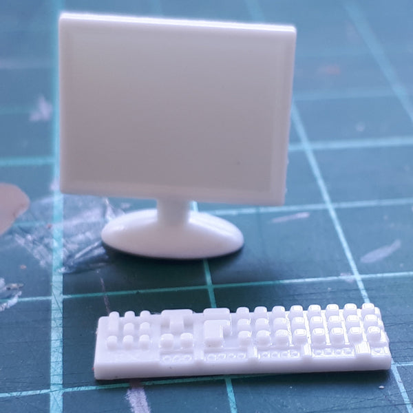 1:24/1:25 Computer Monitor and Keyboard