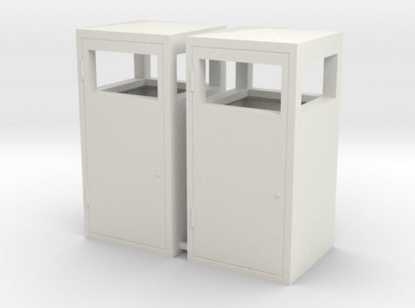 1:24th scale trash bins