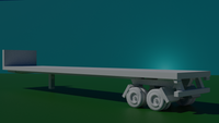 6mm (1:285) 48 foot flat bed trailer