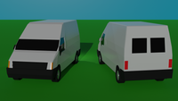 1:350 Civilian Vehicles 2 - Modern Van Set 1