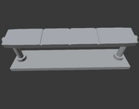 1:64 Modern Style Bench Seat