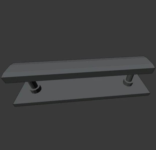 1:64 Modern Style Bench Seat, Type 2