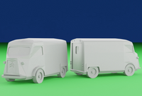 6mm (1:285) Civilian Car Pack 4 - Type H Van