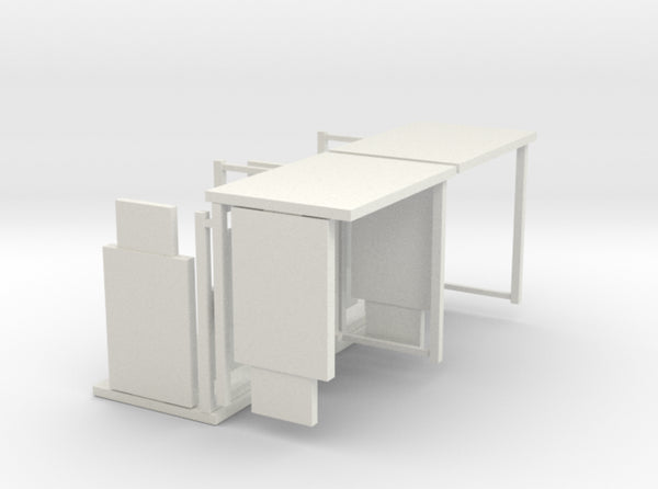HO/1:87 Bus Shelter 4 pack