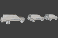 6mm (1:285) Civilian Vehicles Set 2 - Land Cruisers