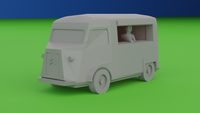 6mm (1:285) Civilian Car Pack 6 - Type H Food Van